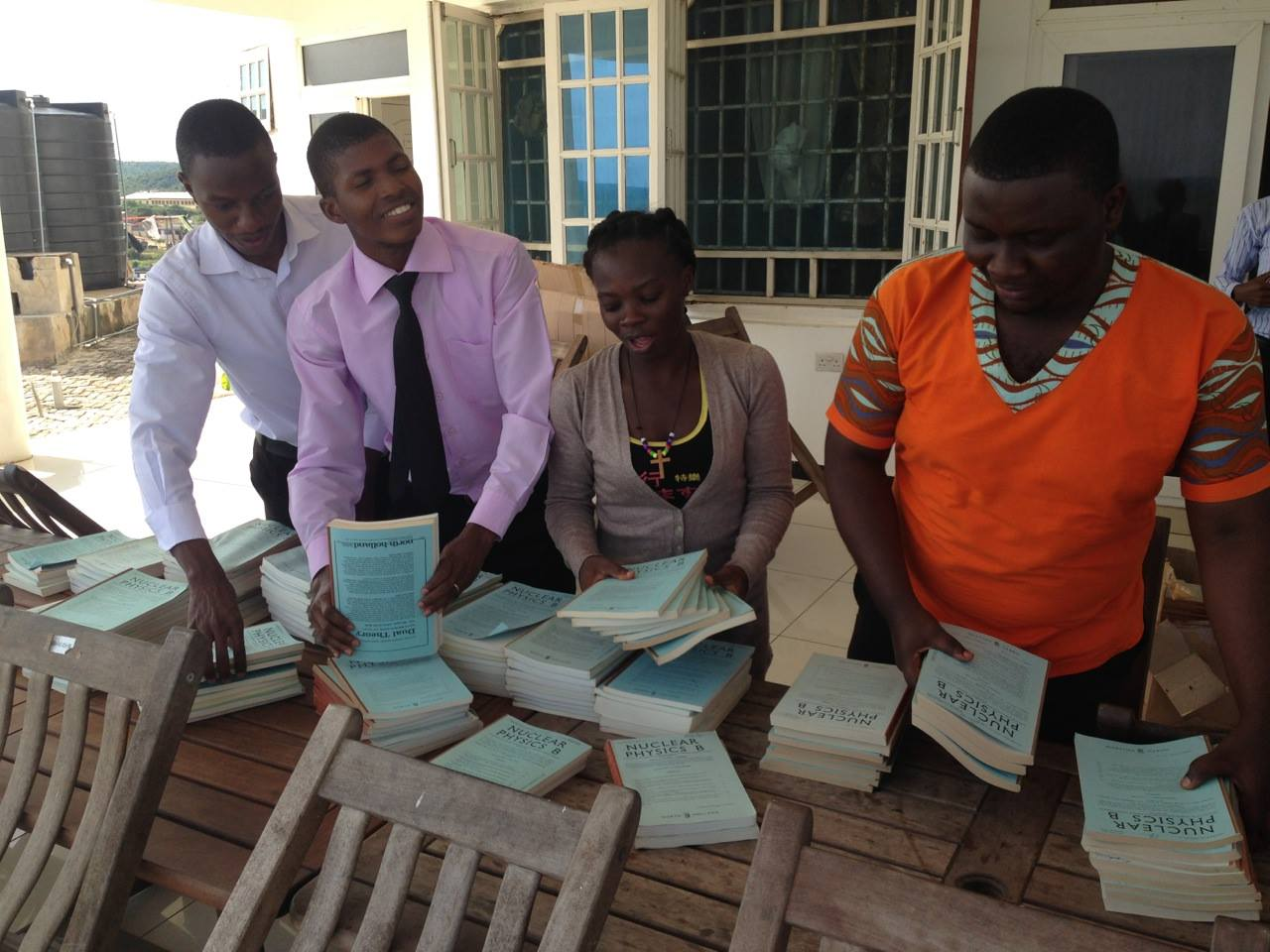 BOOKS SHIPPED TO AFRICAN INSTITUTE FOR MATHEMATICAL SCIENCES